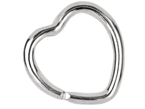 Solid Sterling Silver 925 Heart Key Ring Split Loop  30mm /& Pouch A Perfect Gift