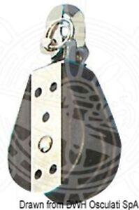 Viadana Ball-bearing block 1 pulley fixed//swivel 10x38mm