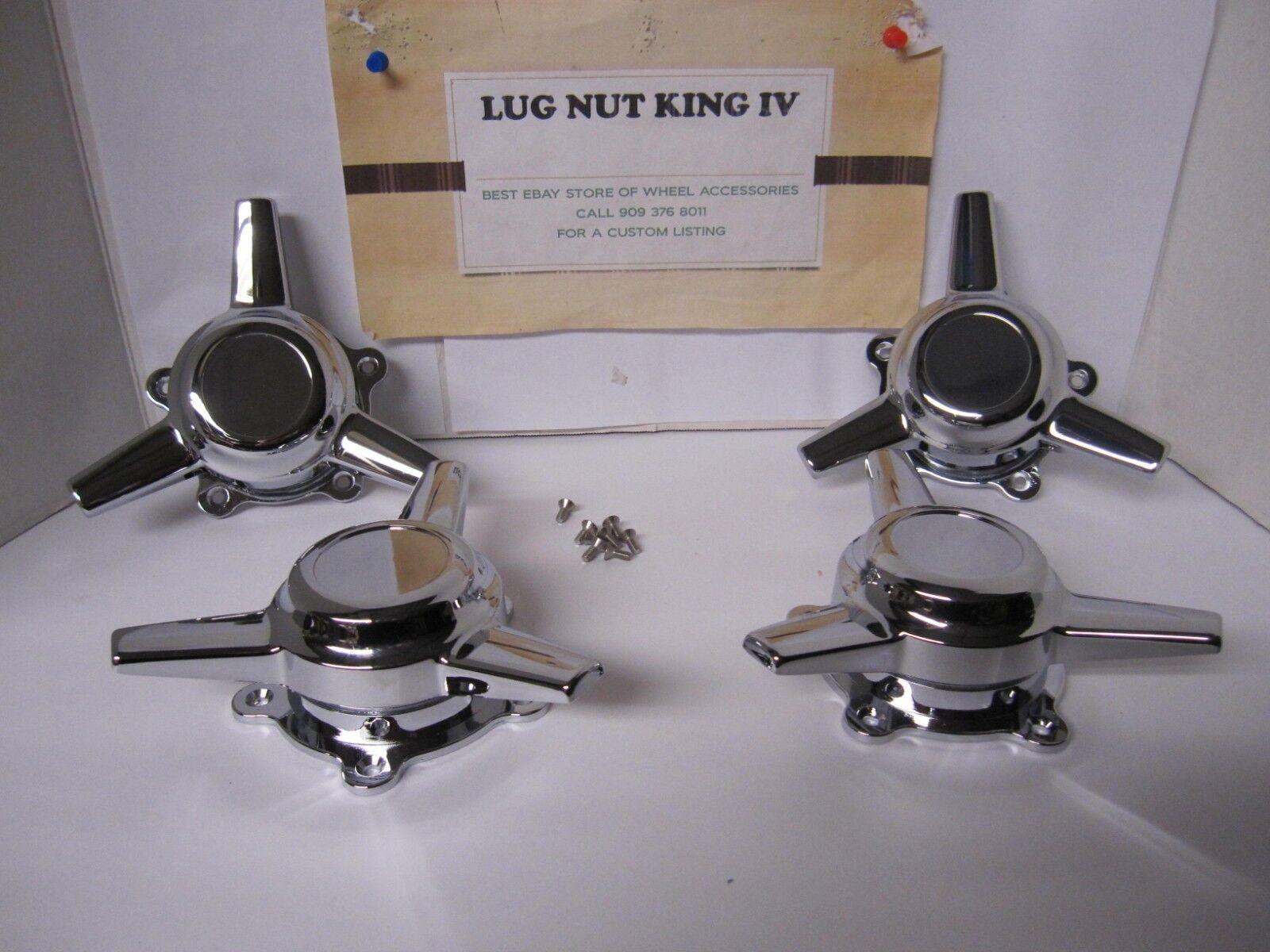 4 Caps hilanderos 3 Bar Nuevo American Racing Nuevos Torq Thrust distancia entre agujeros de D 2 1 4