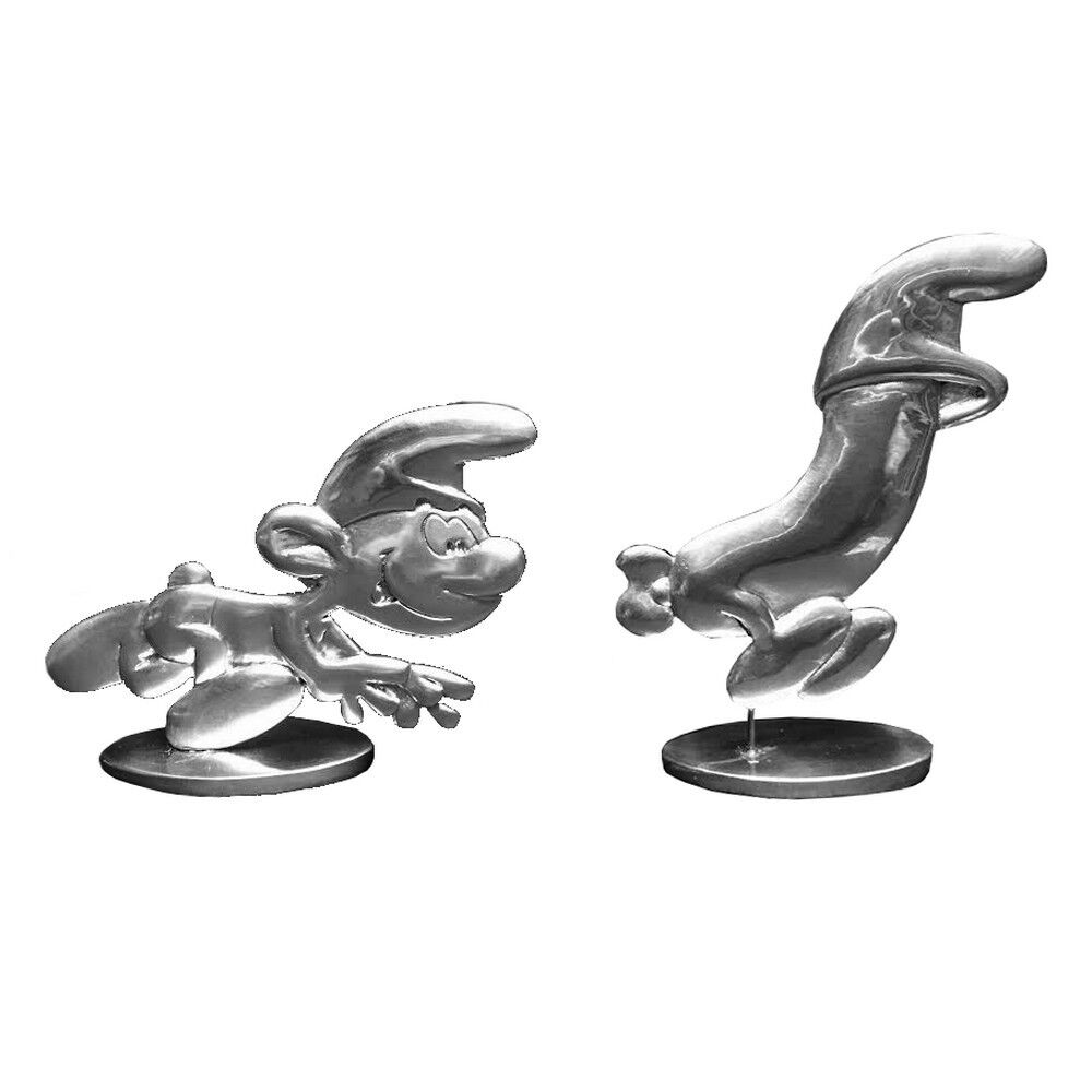 Figuras Coleccionables les étains de Virginie el huevo y los Pitufos (2016)
