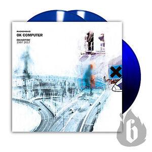 RADIOHEAD-3-x-LP-OK-COMPUTER-OKNOTOK-BLUE-Vinyl-Ltd-Edn-Sold-Out-Promo-Sheet