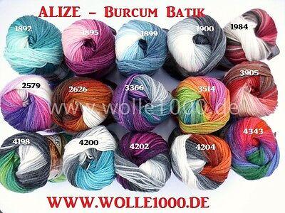 100g ALIZE Burcum Batik !!! Türkische Wolle mit tollem Farbverlauf !!! NEU