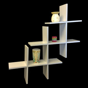 Wall-Mounted-Storage-Shelf-Bookcase-Cube-Display-Shelves-White-Black-Beech-rack