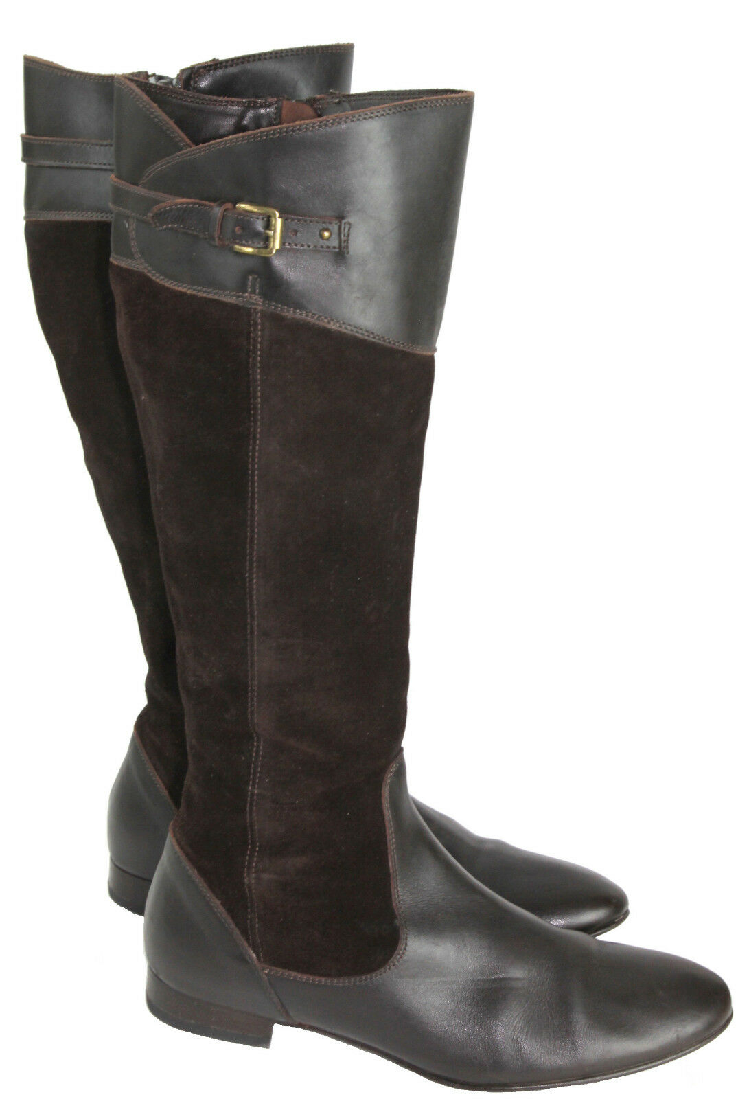 J.Crew Brown Leather and Suede Buckle Riding Boots, Made in  Size 7.5M