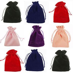 Pochettes-Sacs-Cadeau-Velours-Bijoux-Sachets-5x7-7x9-9x12cm