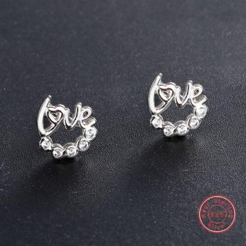 New Authentic 925 Silver Ear Stud Zircon Crystals Fashion Women Earrings Dangle
