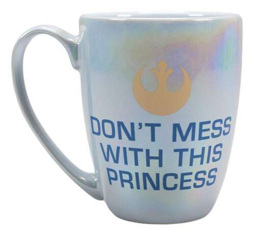 OFFICIAL STAR WARS PRINCESS LEIA DONT MESS WITH THE PRINCESS COFFEE MUG CUP