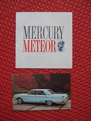 1962 Mercury Meteor Original Sales Brochure Catalog