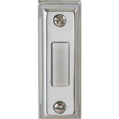 IQ America Wired Silver Rectangular Design Lighted Doorbell Push-Button DP-1203