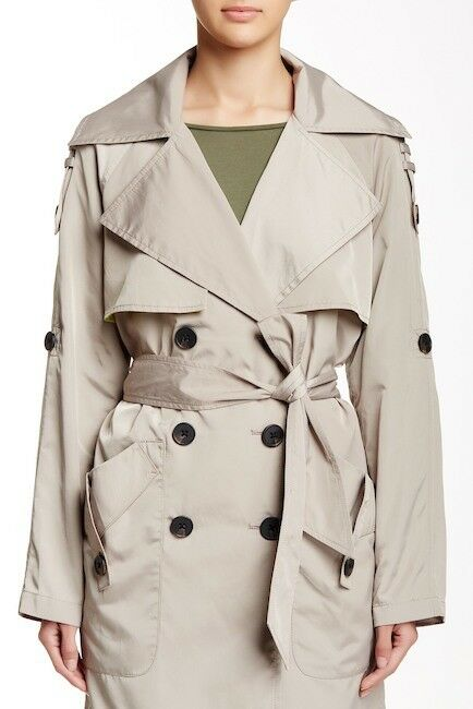 BCBGeneration Soft Double Breasted Trench Coat NWT     SZ XS   C299