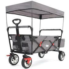 Chariot de transport pliable enfant FUXTEC FX-CT500 avec toit anti-UV GRIS