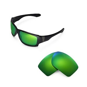 bdaef1ac356 Image is loading Walleva-Polarized-Emerald-Replacement-Lenses-for-Oakley -Big-