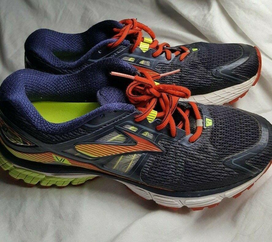 Brooks Ravenna 6 Running shoes 10 D US Navy Men Lightweight Neon Green Sneakers