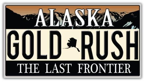 "/'/'SIZES/"" Alaska State USA Gold Rush Emblem Car Bumper Sticker Decal"