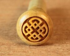 End Pin for Guitar (1), Boxwood with Engraved Celtic Square