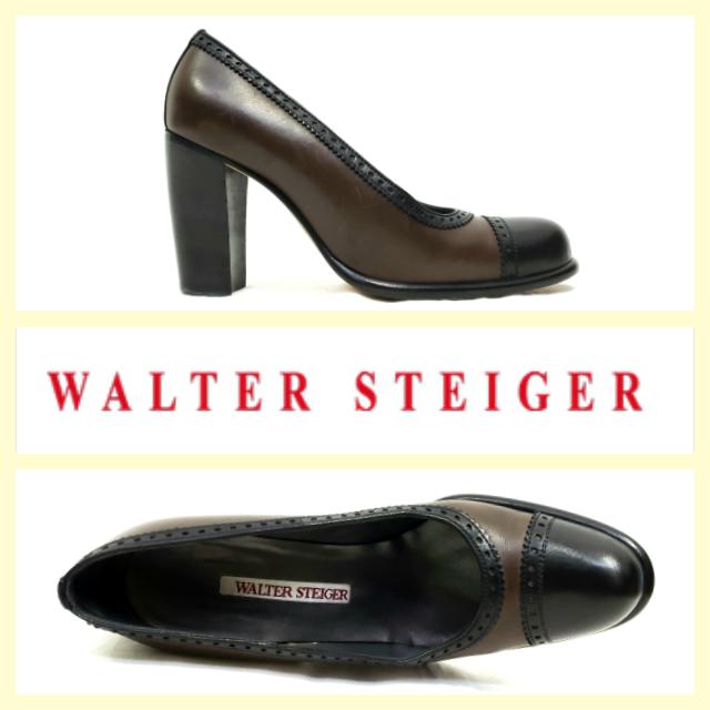 Walter Steiger -vintagehanden -vintagehanden -vintagehanden tillverkad svart  bspringaaa springaaadad tåtopp med vingspetsar  spara 35% - 70% rabatt