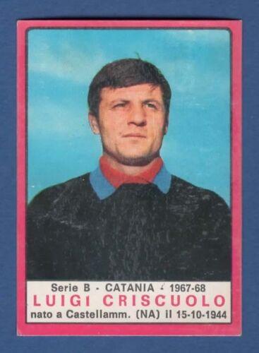 CRISCUOLO CATANIA FIGURINA CALCIATORI PANINI 1967//68