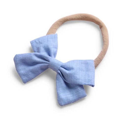 Baby Girl Infant Toddler Linen Elastic Bow Hairband Headband Head Band Hair Clip