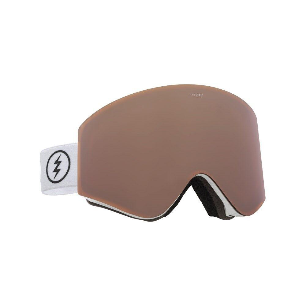 Elektrisch Visual EGX Gloss White Snowboarding Goggles (Bronze)