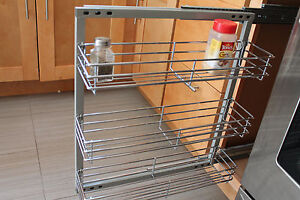 Exceptionnel Image Is Loading Spice Rack In Cabinet Pull Out 3 Shelves