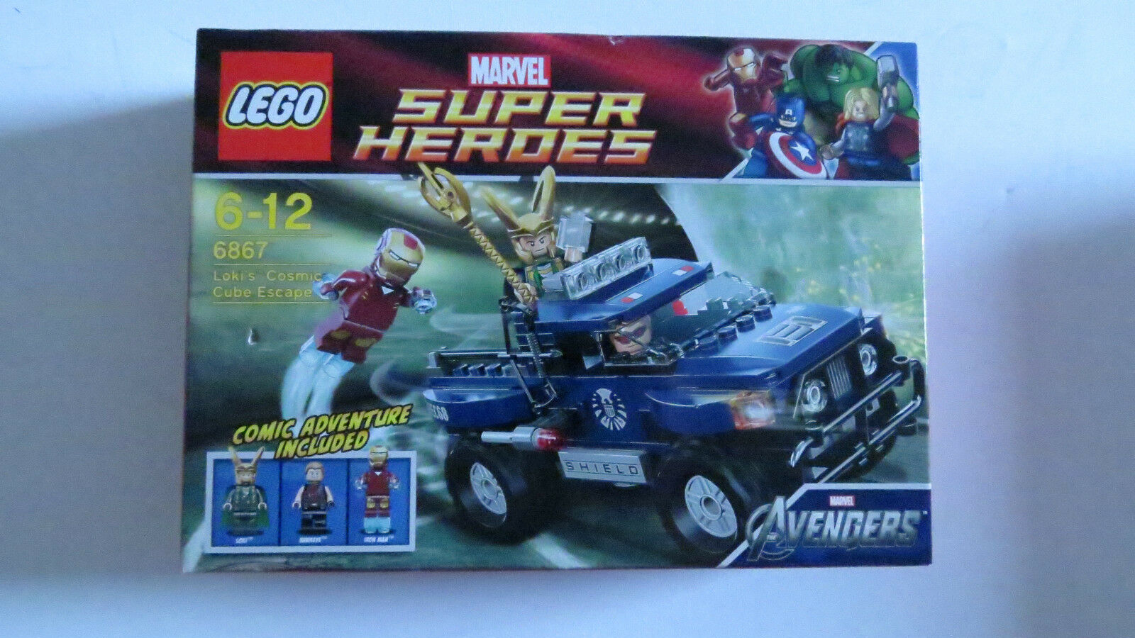 LEGO Super Heroes 6867  Loki's Cosmic Cube Escape BOXED SET