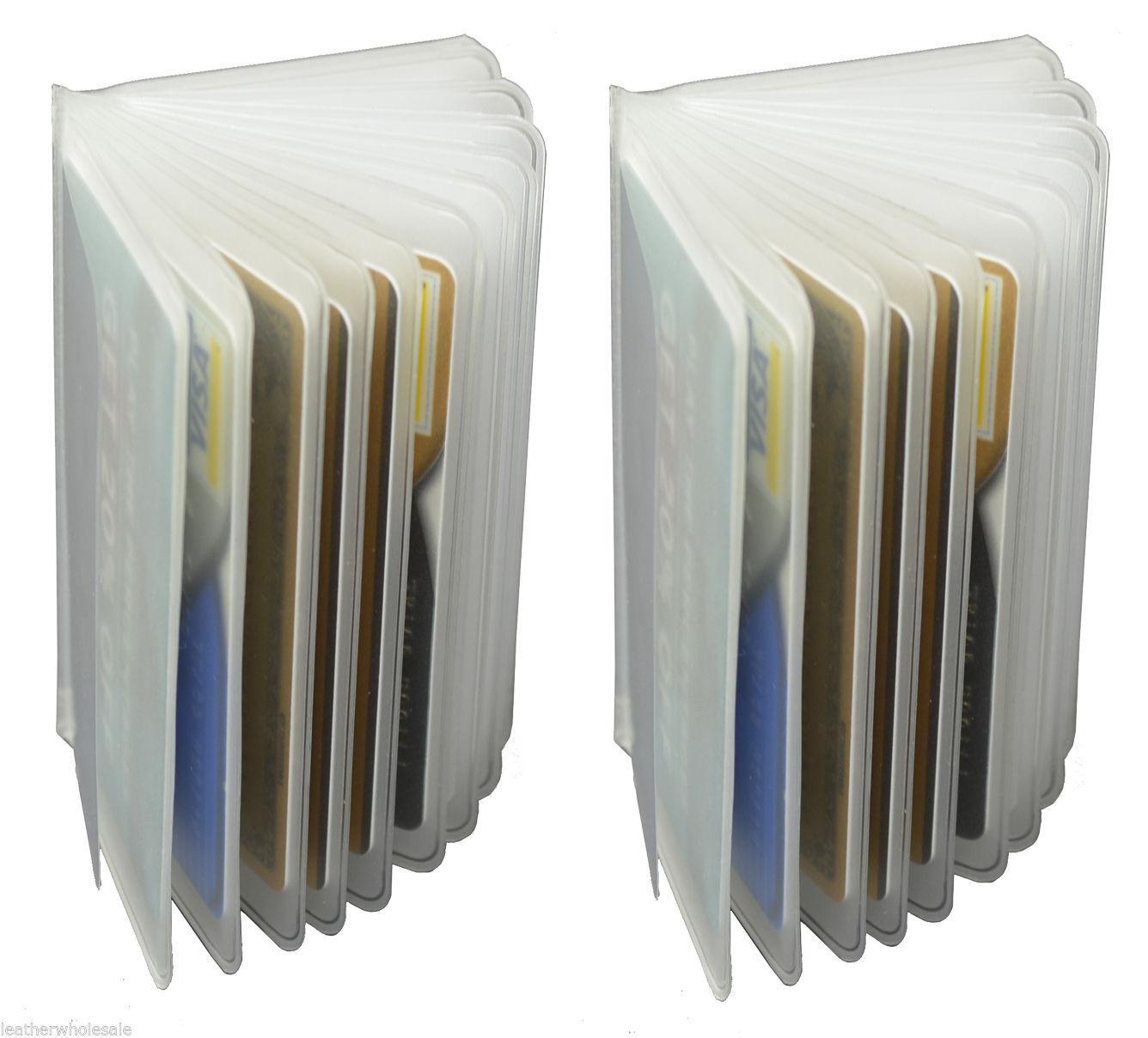 2 Klarer Kunststoff Ersatz Einsätze Bild Karte Halter Für Dreifach Faltbar Etui