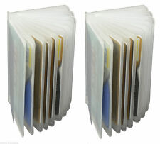 2 Clear Plastic Inserts Replacmet Credit Card Holder Trifold Card case New