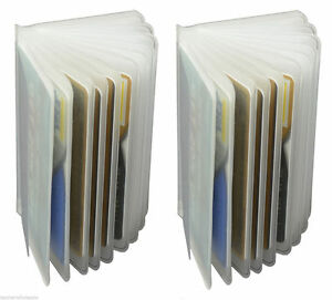 2-Clear-Plastic-Replacement-Inserts-Picture-Card-Holder-For-Trifold-Card-Wallet