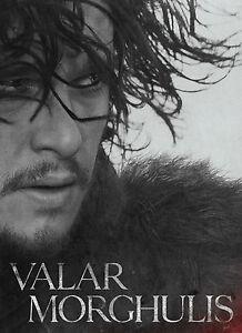 Game Of Thrones JON SNOW  Poster Valar Morghulis drama TV series #26