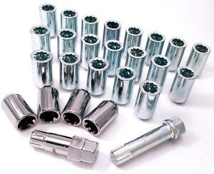24-X-Tuerca-Tuning-Delgada-Cerraduras-Inc-M12-1-5-17mm-Hexagonal-Star-Llave-para