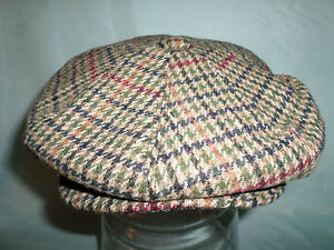 WOOL-CHECK-NEWSBOY-CABBY-PAPER-BOY-VICTORIAN-EDWARDIAN-PEAKY-BLINDERS-CAP