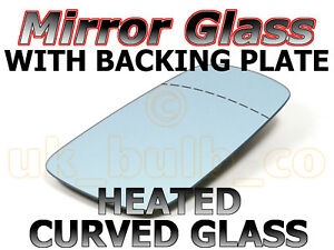 NEW-DRIVER-side-CONVEX-Mirror-Glass-HEATED-Plate-VOLVO-240-SERIES-88-gt