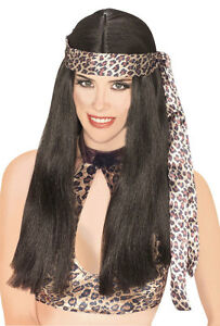 Cave Woman Wig Long Hippie Indian Halloween Adult Costume Accessory 2 COLORS Clothing, Shoes & Accessories Accessories
