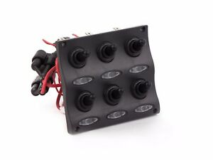 Five-Oceans-Marine-Electric-Waterproof-LED-Toggle-Switch-Panel-6-Gang-BC-2652