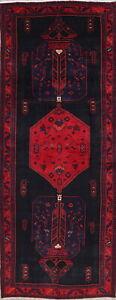 Geometric-Oriental-Bidjar-Runner-Rug-Wool-Hand-Knotted-Medallion-Oversize-5x13