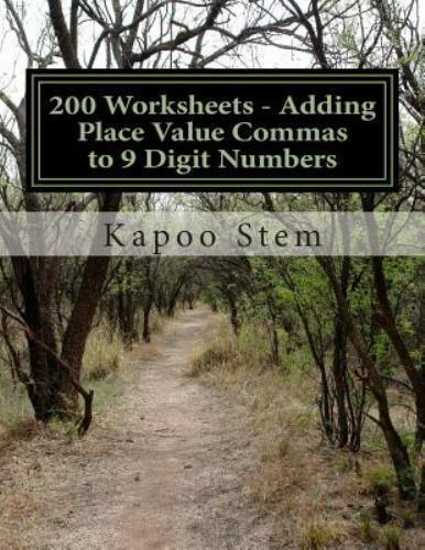 200 days math placing comma  200 worksheets