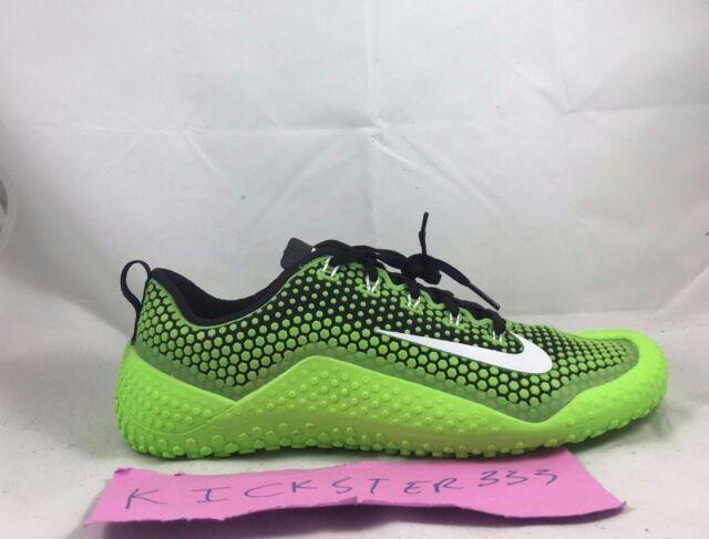 2c9f31d53896f Nike Free Trainer 1.0 Electric Green White Black Training Shoe 807436-310  6-12.5