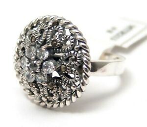 Sterling-Silver-Ring-Marcasite-Size-8-Brand-New