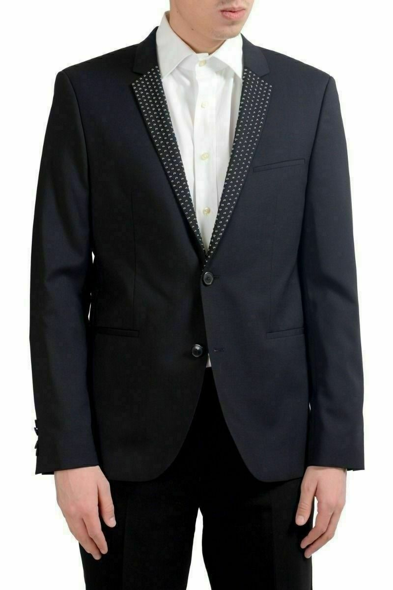 Hugo Boss  AdrlsonStuds  Men's Wool Decorated Blazer Sport Coat US 40R IT 50R
