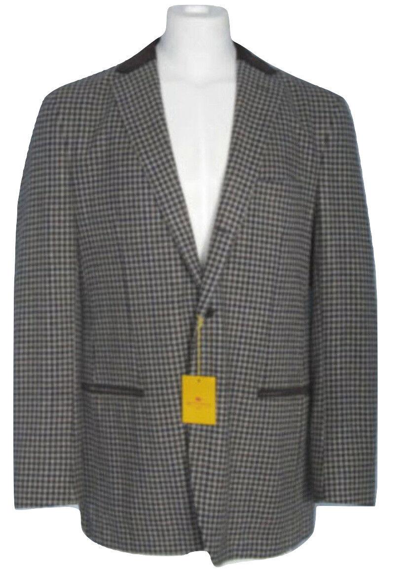 NEW Etro Vintage Style Sportcoat (Blazer)  42 L e 52 L grau Plaid  Wool Cashmere