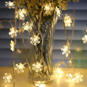 20LED-3M-String-Fairy-Lights-Snowflake-Xmas-Tree-Christmas-Party-Home-Decor-Lots