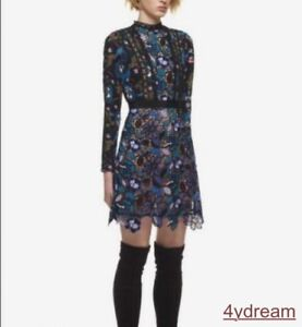 Occident-Women-039-s-Hollow-Out-Floral-Pattern-Cotton-Chiffon-Long-Sleeve-Lace-Dress