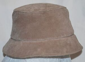 Image is loading Sima-International-Brown-Suede-Bucket-Hat-Small-USA- b9c6e9d07ec