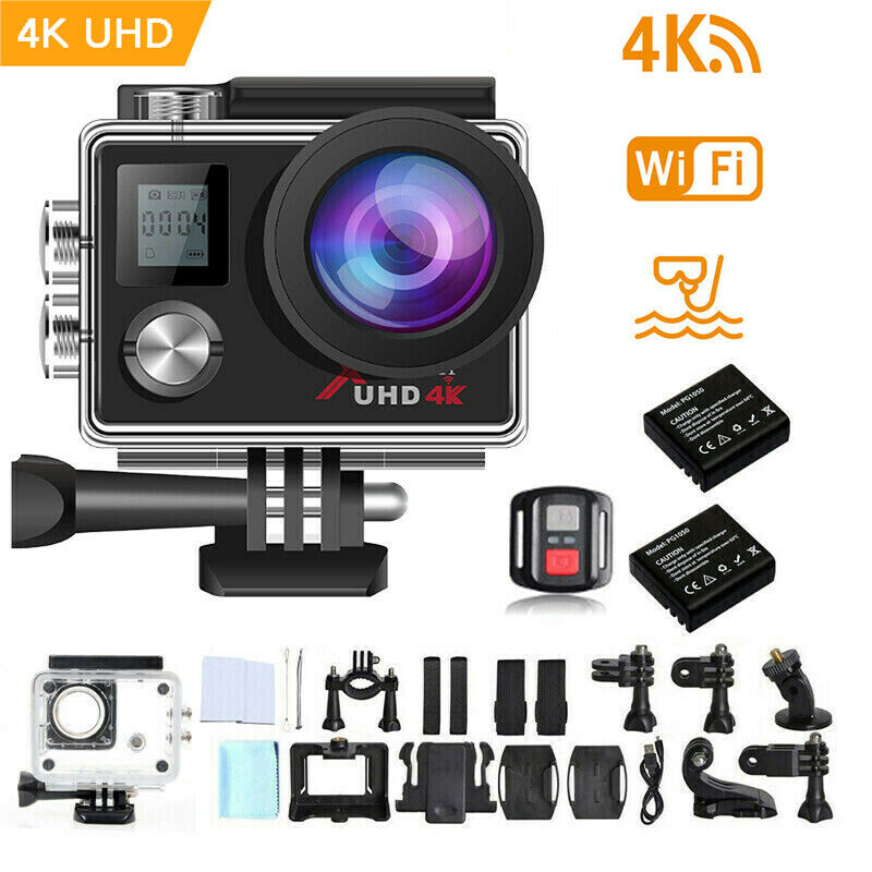 Campark ACT76 Action Sports Camera WiFi UHD Helmet Cam Remote Control Camcorder act76 action cam camera campark helmet remote sports uhd wifi