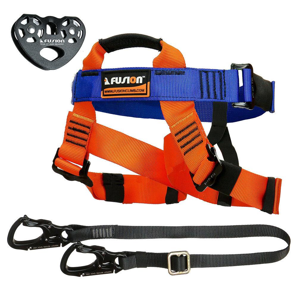 Fusion Tactical Kids Zip Line Kit Harness Lanyard Trolley FTK-K-HLT-01