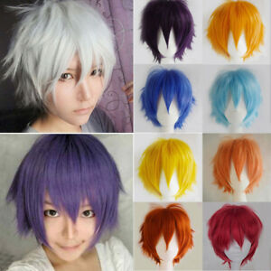Women-Men-Unisex-Short-Straight-Hair-Wig-Anime-Full-Wigs-Party-Cosplay-Costume