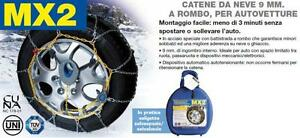 CATENE-NEVE-AUTO-AUTOMATICHE-MX2-9mm-ROMBO-GR-10-205-70-15