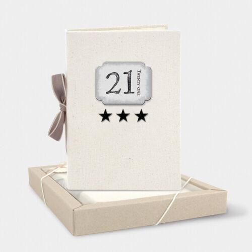 Este de la India de lona 21st Cumpleaños Regalo Álbum de fotos de memoria tiene 48 Pic 19x24cm