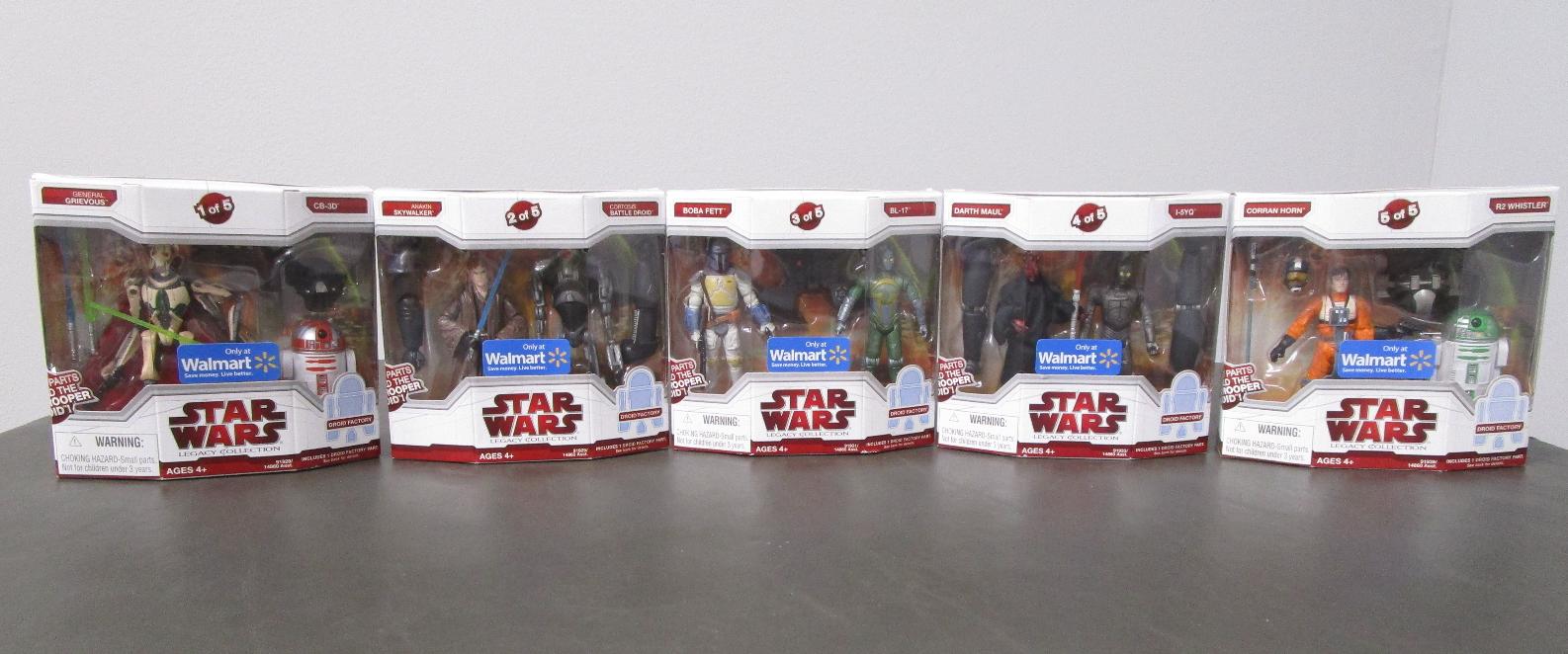 Build a Darktrooper 2009 STAR WARS Legacy Collection SET of 5 MIB Walmart