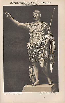 Herzhaft Licht-druck Lithografie 1898 RÖmische Kunst I-iii. Augustus. Rom I-iii. Italia Attraktiv Und Langlebig